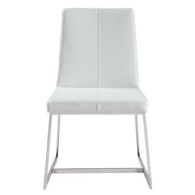 Aquino Parsons Chair Upholstery: White