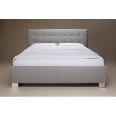 Barros Upholstered Platform Bed Size: King, Color: Gray