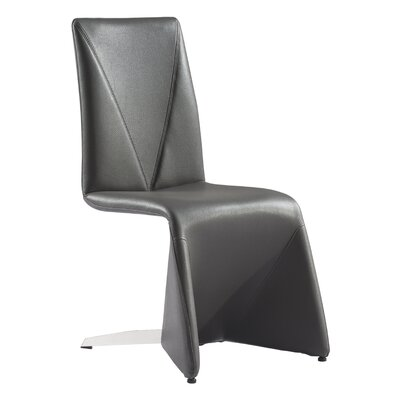 Atropos Parsons Chair Upholstery: Dark Gray
