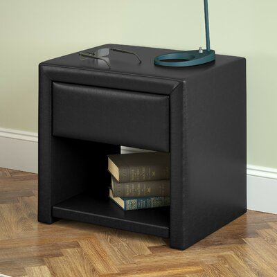 Jenson 1 Drawer Nightstand Color: Black