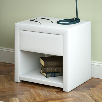 Jenson 1 Drawer Nightstand Color: White