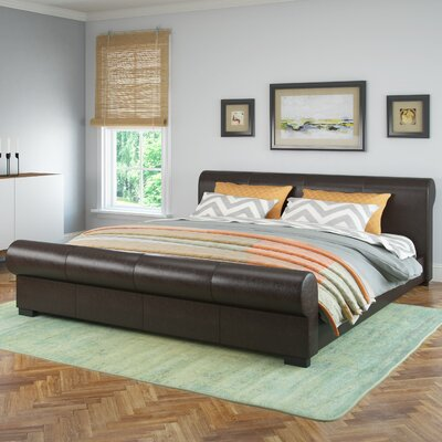 Carstens Upholstered Platform Bed Size: Single/Twin, Upholstery: Black Espresso