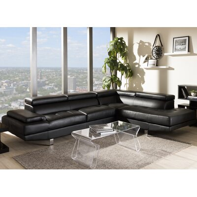 Wade Logan WADL2686 25983357 Giles Right Hand Facing Sectional Upholstery