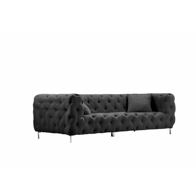 Samar 3 Seater Sofa Upholstery: Midnight Black