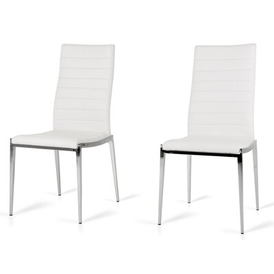 Clower Parsons Chair Upholstery: White
