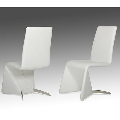 Wesley Contemporary Parsons Chair Upholstery: White