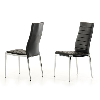 Clower Parsons Chair Upholstery: Black