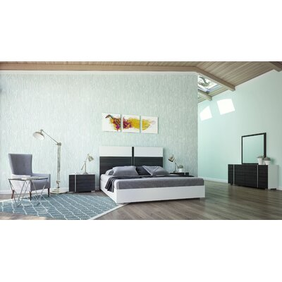 Vance Platform Bed Size: King, Finish: White / Grey