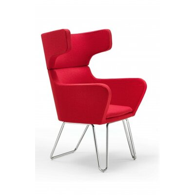 Ace Accent Armchair Upholstery: Red