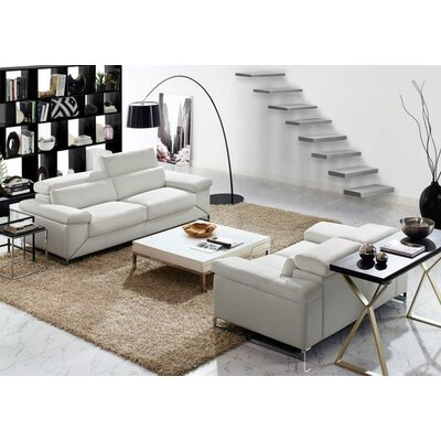 Asa 2 Piece Leather Living Room Set