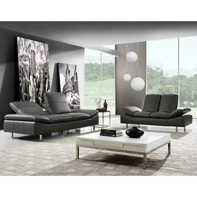 Aedan 2 Piece Leather Living Room Set