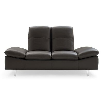 Ahmed Leather Loveseat