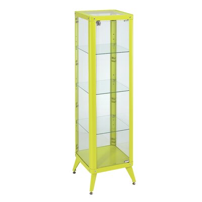 Bellerophon Standard Curio Cabinet Color: Apple Green