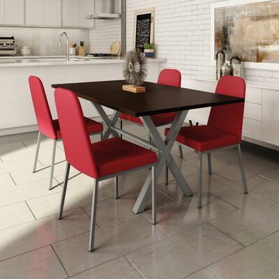 Muhammed 5 Piece Dining Set Finish: Red Dark / Chocolate