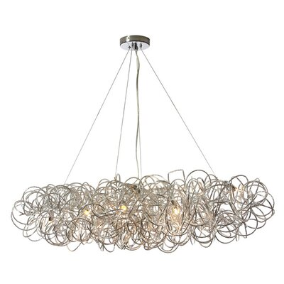 Kash 8-Light Cluster Pendant Finish: Polished Chrome