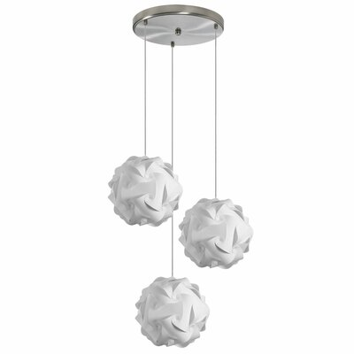 Corvi 3-Light Cascade Pendant Shade Color: White