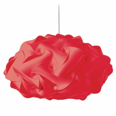 Corvi 3-Light Geometric Pendant Shade Color: Red