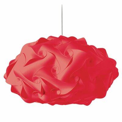 Corvi 3-Light Geometric Pendant Shade Color: Red