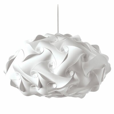 Corvi 3-Light Geometric Pendant Shade Color: White