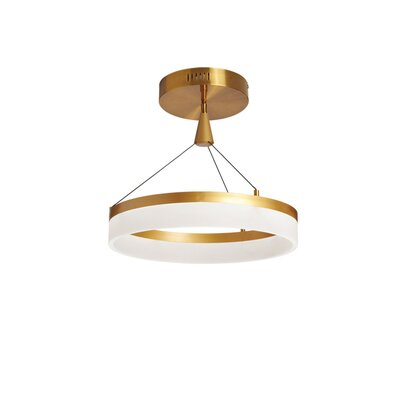Crater 1-Light Semi Flush Mount