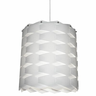 Theo 1-Light Drum Pendant Shade Color: White, Size: Medium