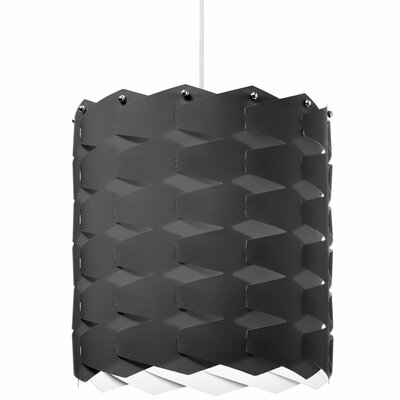 Theo 1-Light Drum Pendant Size: Large, Shade Color: Black
