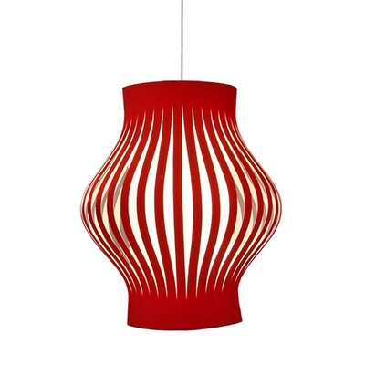 Tammaro 4-Light Pendant Shade Color: Red