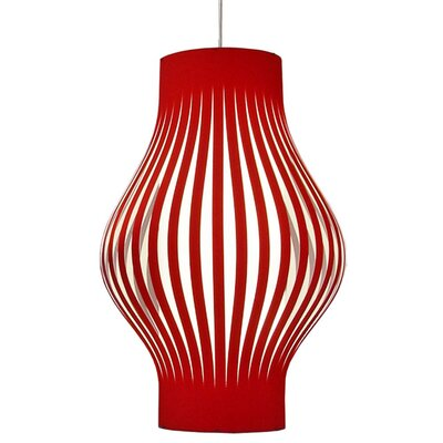 Tammaro 6-Light Pendant Shade Color: Red