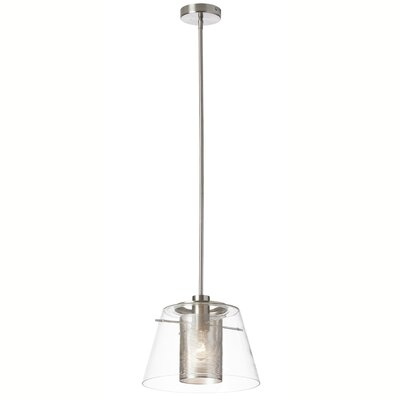 Kiuchi 1-Light Mini Pendant Finish: Satin Chrome