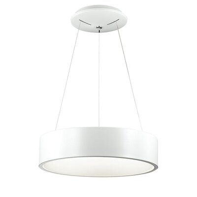 Armaan 1-Light Drum Pendant Finish: White, Size: 4 H x 18 W x 18 D