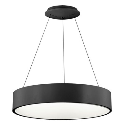 Armaan 1-Light Drum Pendant Finish: Black, Size: 4 H x 24 W x 24 D
