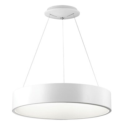 Armaan 1-Light Drum Pendant Finish: White, Size: 4 H x 24 W x 24 D