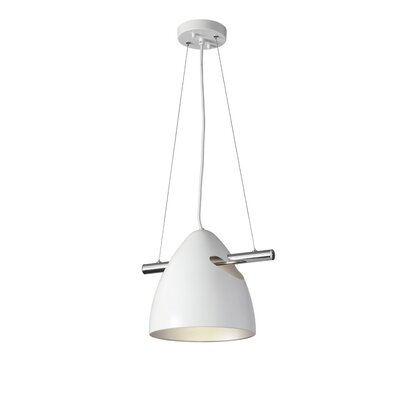 Atlas 1-Light Mini Pendant Finish: White