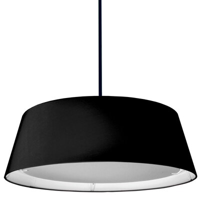 Armani 1-Light Mini Pendant Shade Color: Black