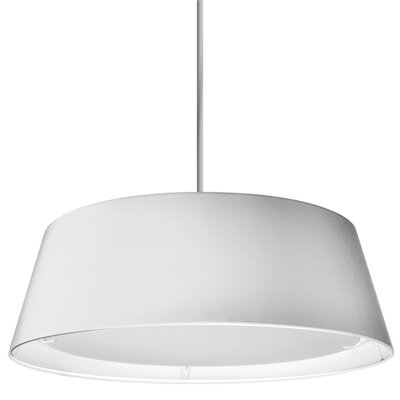Armani 1-Light Mini Pendant Shade Color: White