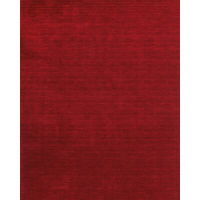 Ansh Hand Woven Red Area Rug Rug Size: Rectangle 36 x 56