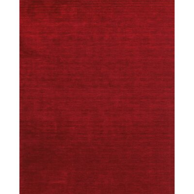 Ansh Hand Woven Red Area Rug Rug Size: 36 x 56