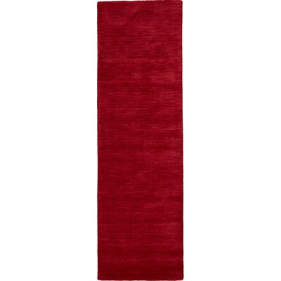 Ansh Hand Woven Red Area Rug Rug Size: Runner 26 x 8