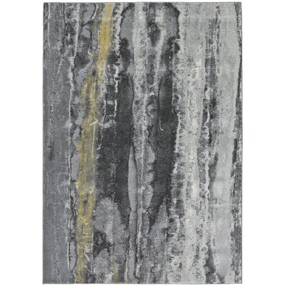 Ahaan Asphalt Area Rug Rug Size: Rectangle 22 x 4