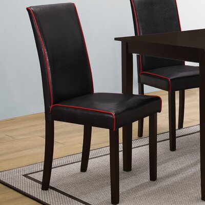Boivin Side Chair (Set of 2) Upholstery: Black