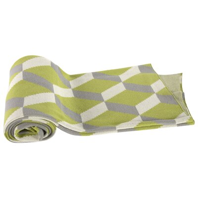 Mendieta Cashmere Throw Blanket Color: Green