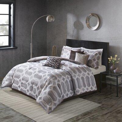 Landon 7 Piece Comforter Set Size: King, Color: Neutral