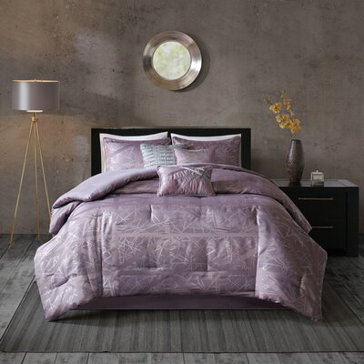 Marcel 7 Piece Comforter Set Size: Queen, Color: Purple