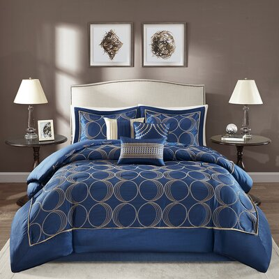 Keaton 7 Piece Comforter Set Size: California King