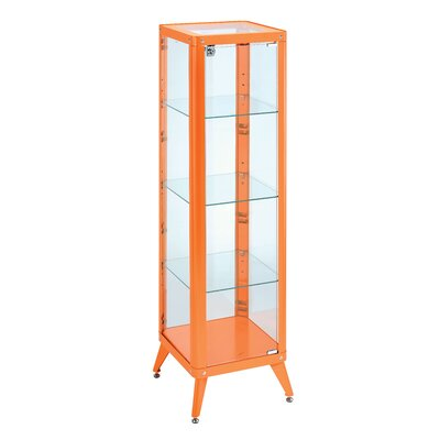 Ahmad Standard Curio Cabinet Finish: Orange