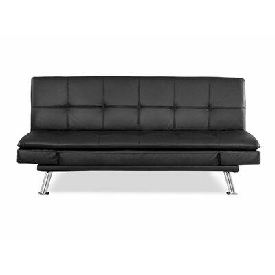 Axton Sleeper Sofa Upholstery: Black
