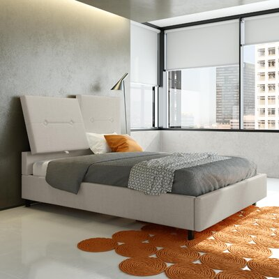 Decker Upholstered Platform Bed Color: Pale Gray, Size: Queen