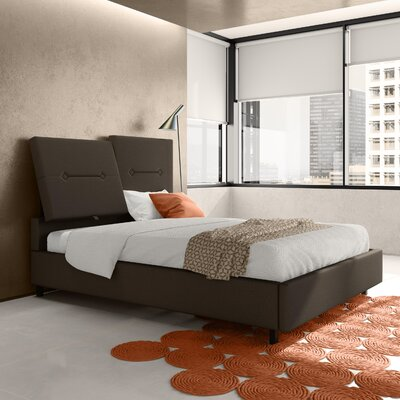 Decker Upholstered Platform Bed Color: Dark Gray, Size: Full