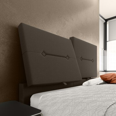 Decker Upholstered Panel Headboard Color: Dark Gray, Size: Full