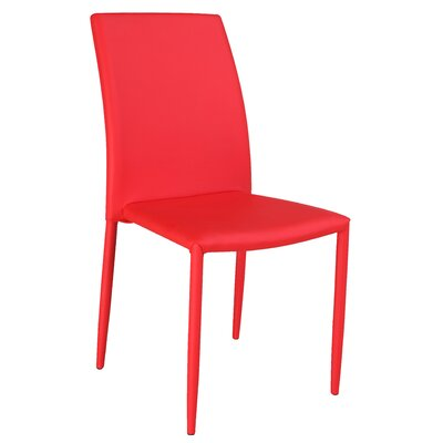 Farwell Side Chair (Set of 4) Finish: Red